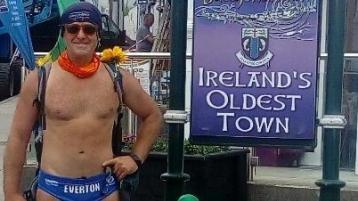 Legendary fundraiser Speedo Mick in Ballyshannon and Bundoran