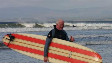 Tributes paid to late Donegal surfer Brian Britton, former Irish Surfing President who was instrumental in Surfing debuting as an Olympic Sport today