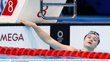 WATCH: Wonderful Mona McSharry gives her reaction after Olympic Final in 100m breaststroke