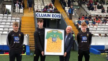 Donegal remember U-20 Monaghan captain Brendan Óg Ó'Dufaigh with jersey presentation