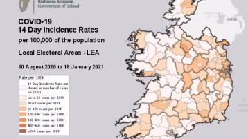 WATCH: Video shows the changing Covid-19 rate in each area local electoral area since August