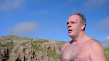 WATCH: Donegal man sets off on mammoth swim - around Ireland!
