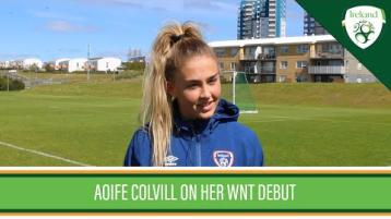 Watch: Aoife Colvill delighted at well-wishes from Donegal after making Ireland WNT debut