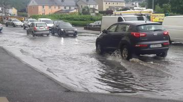 WATCH: Warning  as heavy downpours cause problems on Donegal roads