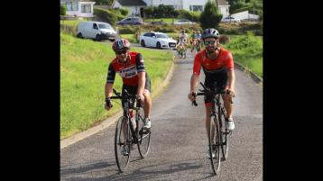 WATCH:  Donegal Town FC's fund-raising cyclists arrive back home from Cork