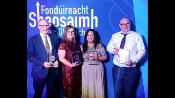 PICTURE GALLERY:  Sheosaimh Mhic Dhonnacha Foundation award for Carndonagh Clg