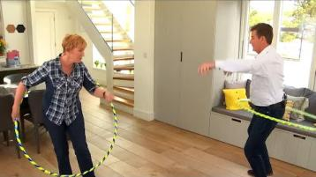 WATCH: Donegal's favourite celebrity couple , the wonderful Daniel and Majella O'Donnell, try their hand and....hips in an online hula-hooping class