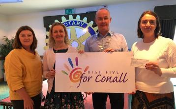 Rotary Club presents cheque to High 5 for Conall