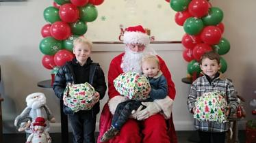 Santa drops into Supermacs in Donegal