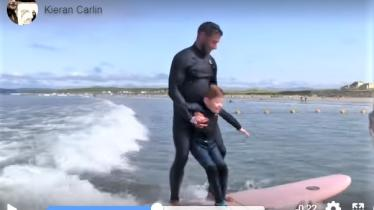 Adventure of a lifetime for a very special boy thanks to a big-hearted Donegal surf instructor