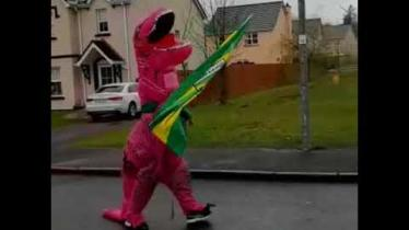 WATCH: Residents raise St Patrick's day spirits by hosting 'parade' in Donegal housing estate