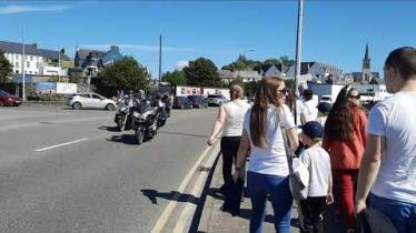 WATCH: Incredible sights and sounds of more than 300 motorbikes setting off on charity run around Donegal