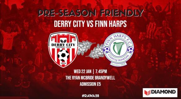 Derby days - Finn Harps and Derry meet in pre-season friendly this evening