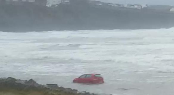 Watch: Donegal's Rossnowlagh beach during Storm Atiyah