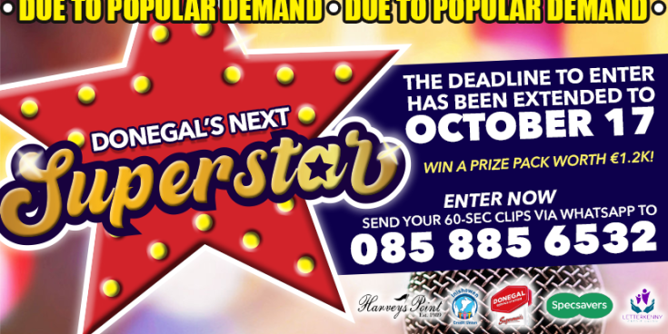 Could you be Donegal's next Superstar? Prize package worth €1,200
