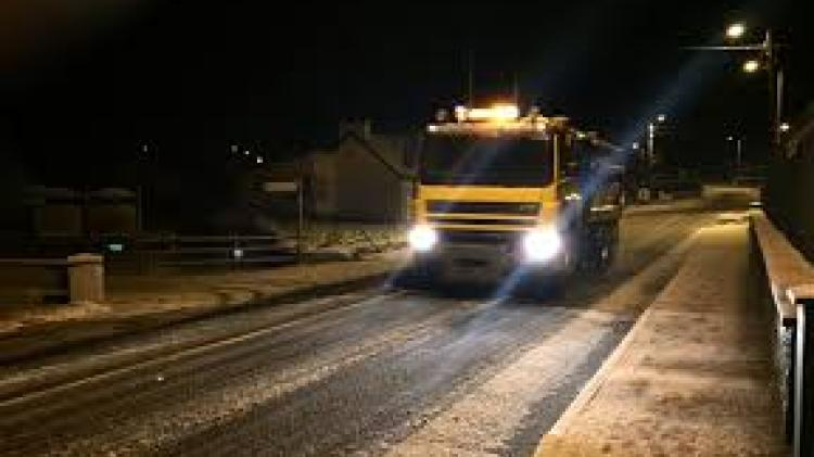 Gritters out tonight so be careful