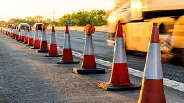 Roadworks on busy Donegal road today