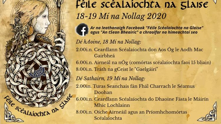 The Falcarragh-based initiative Féile Scéalaíochta na Glaise event goes online this year