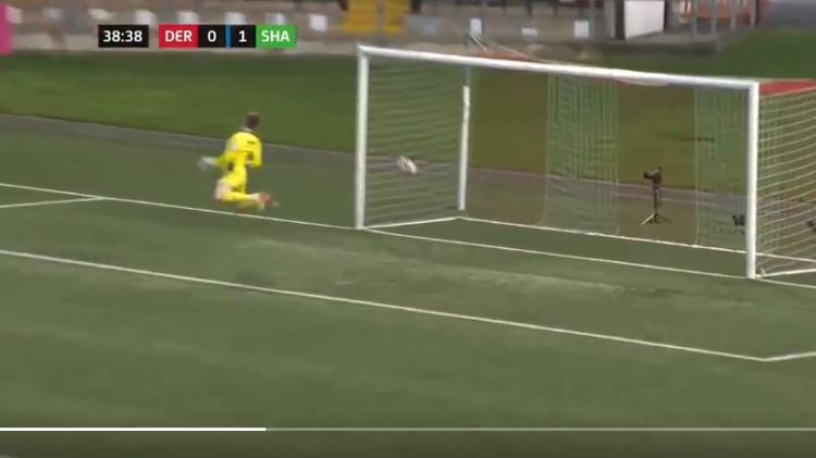 Watch: Wondergoal from half-way line as champions heap more misery on Derry
