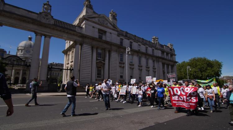 GALLERY: Thousands line the streets of Dublin calling for 100% Redress