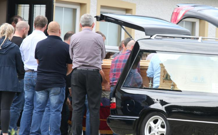 Scenes of immense sadness in Bruckless as remains of three crash victims arrive home
