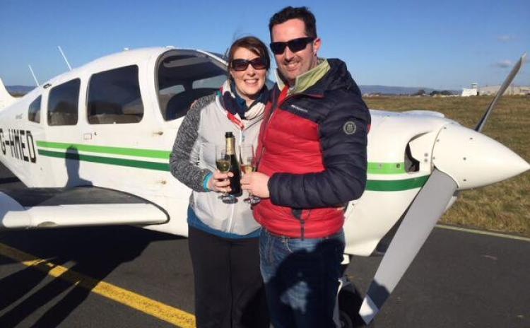 Love is in the air as couple get engaged 1,000 feet above Donegal beach