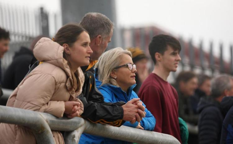 Supporters in MacCumhaill Park  at the St Eunan's v St Naul's  Senior Championship game