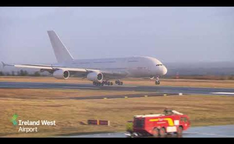 World's biggest passenger plane lands at Ireland West Airport - but it will never take off again