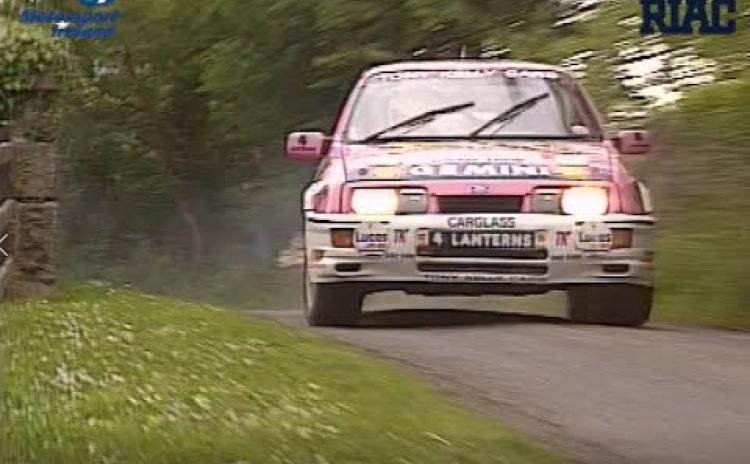 WATCH - 30 years ago James Cullen won the Donegal International Rally in the distinctive pink Sierra Cosworth