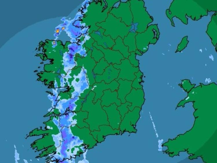 A snow-ice weather warning has been issued by Met Eireann