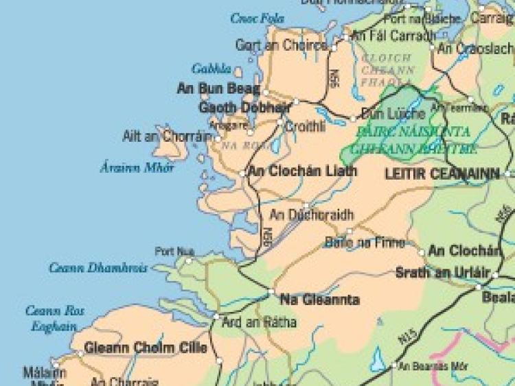 Efforts Being Made To Retain The Irish Language In South Donegal - Irish language map
