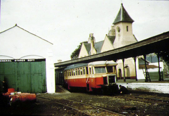 Railcar 12 plus red van, Stranorlar,1957
