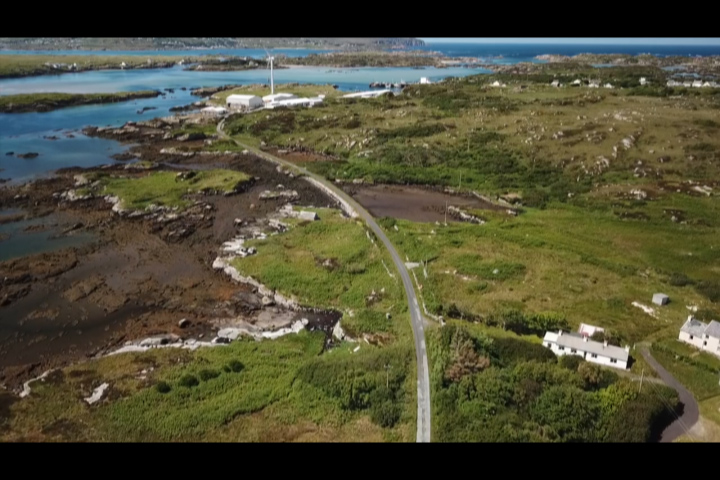 Aerial footage of the final approach into Burtonport