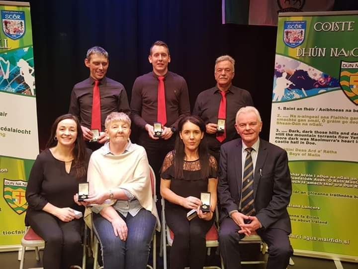 The county Ceol Uirlise title went to wonderful musicians: Evelyn McGonigle, Fiona McFeely, Shaun McDaid, Patsy Toland and Kieran Kelly (CLG Iorras.)