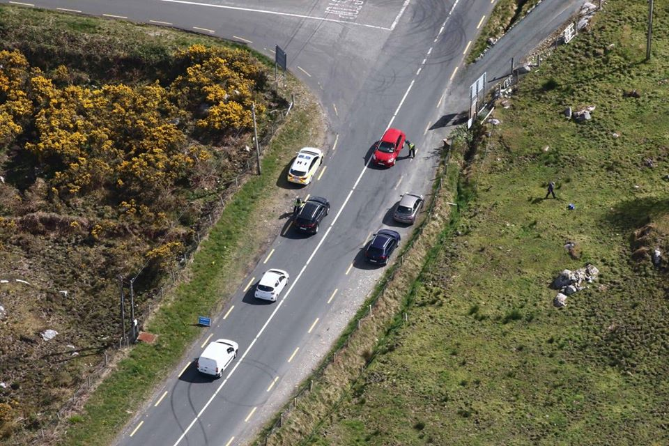 Covid-19 checkpoint on the N56 near Dungloe