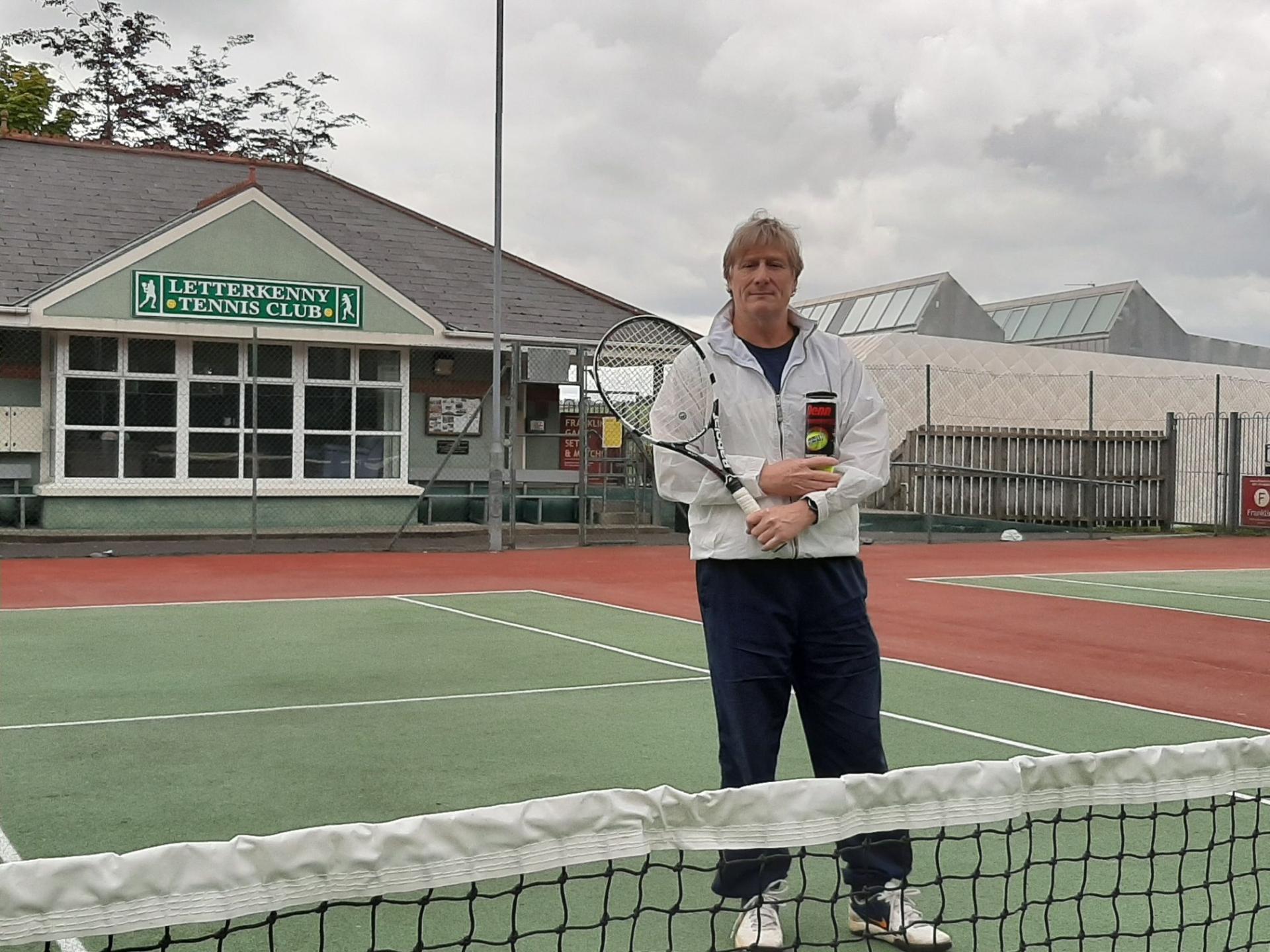 Gerry Clarke, coach at Letterkenny Tennis Club