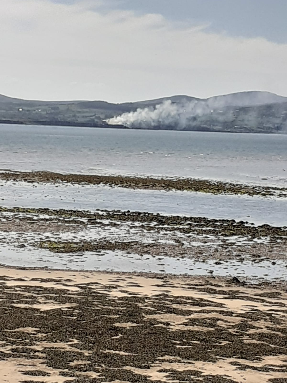 Fire at Macamish Fort as seen from Buncrana
