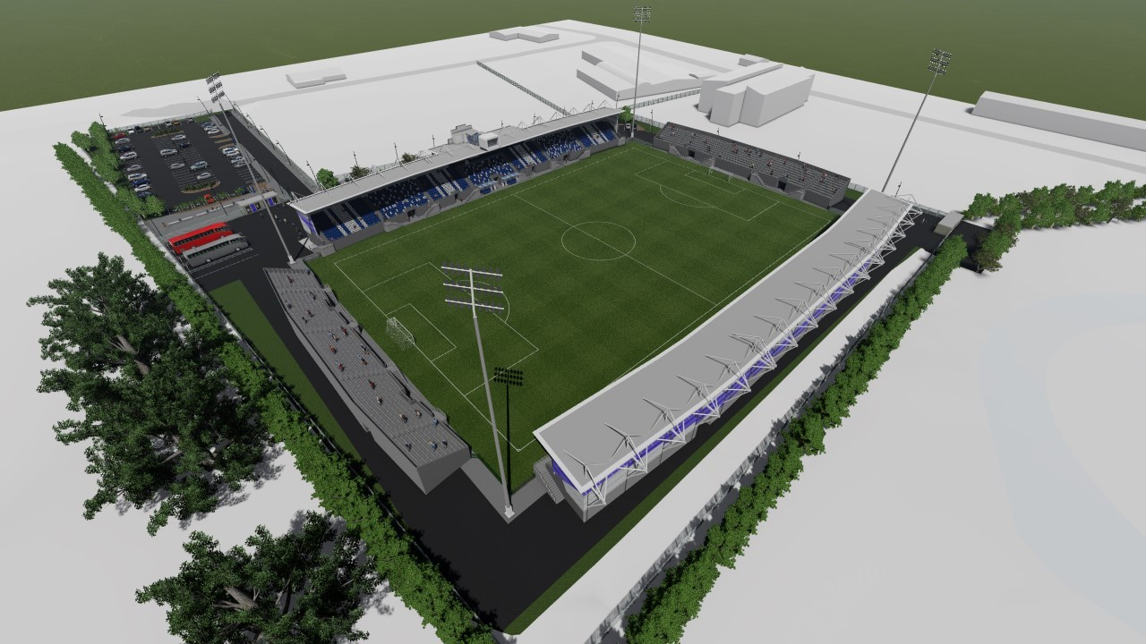 An image of the planned new stadium in Stranorlar